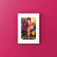 Pink Tulips, Spring Collection, Printable Art, Minimal, Frame, Poster, Painting, Etsy, Decor