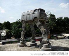 Volkswagen bus AT-AT Walker star wars and vw!