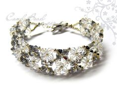 Simply Silver White Swarovski Crystal Bracelet with silver clasp by CandyBead