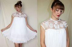 60s wedding dress // micro mini babydoll lingerie // $84.00
