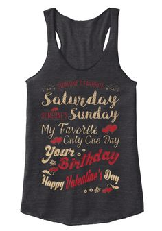 Valentines Day Women's Tank Top Eco Black Women's Tank Top Front