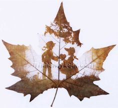 leaf carving | ... Leaf Carving Art | ThatsMyLeaf - Custom Leaf Carving Art, Leaf Veins