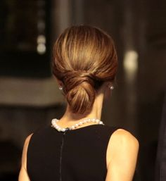 Reina Letizia, detalle de su peinado