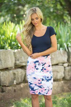 Secretly In Love Floral Skirt Blush
