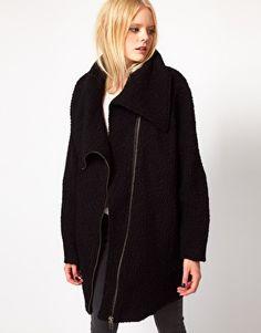 Enlarge Just Female Wool Zip Coat