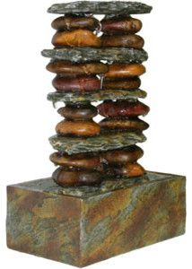 Eternity Tabletop Fountain: Stacked Rocks traditional outdoor fountains
