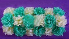 Aqua Robin Blue Mint Artificial Flower Hydrangea Mat Wedding Wall Decoration by sophieliu2 on Etsy