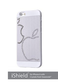iShield® 6 Light mit Crystals from Swarovski® Luxus Hülle /Schale / Schutzhülle für iPhone 6 aus gebürstetem Aluminium mit Swarovski Elementen , Marke und Model: iShield® 6 Light Hülle Doppelter Apfel Silber: Amazon.com: Elektronik