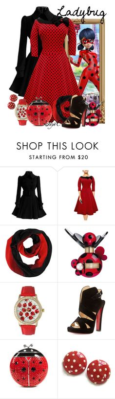 """Ladybug - Miraculous Ladybug"" by rubytyra ❤ liked on Polyvore featuring Chicnova Fashion, Marc Jacobs, Olivia Pratt, Christian Louboutin, Kate Spade, women's clothing, women, female, woman and misses"