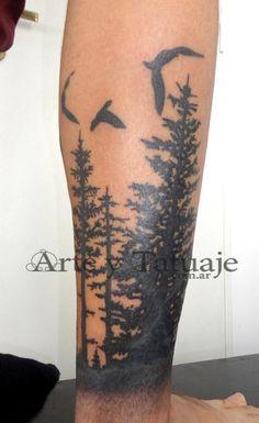 tattoo en la pantorrila pinos - Buscar con Google