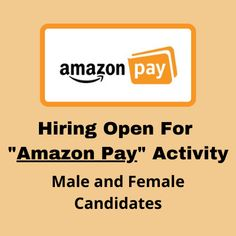 """Hiring 10 male and female candidates for onboarding activity for """"Amazon Pay"""". The post Hiring open for """"Amazon Pay"""" activity appeared first on Jobs and Auditions. Activities, Amazon, Amazons, Riding Habit"""