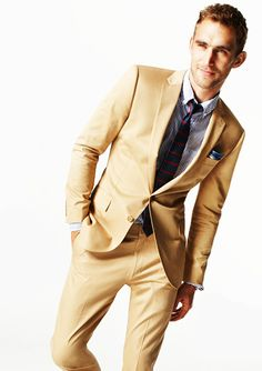 khaki? something maybe a little darker for him  - wedding #dreamwedding #ruchebridal