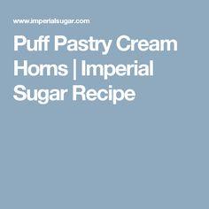 Puff Pastry Cream Horns | Imperial Sugar Recipe