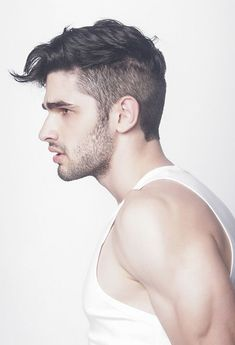 Side Part Men's Haircuts with Medium Fade