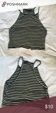 Brandy Melville Striped Tank Top Perfect for summer Brandy Melville top. It will probably be slightly cropped on most people. Has a seam that goes up the back. Can bundle! Brandy Melville Tops Tank Tops