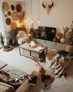 Insanely Cute Home Decor Ideas home decor 58 Boho Interior Design To Copy Now Boho Living Room, Living Room Decor, Living Spaces, Bedroom Decor, Design Bedroom, Cozy Living, Small Living, Modern Living, Bedroom Ideas