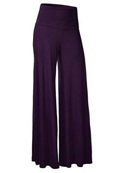 RTYou Womens High Waist Long Palazzo Bell Bottom Yoga Pants Comfy Wide Leg Flare Palazzo Wide Leg Pants