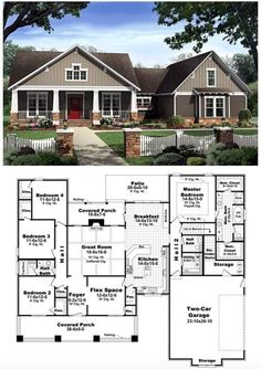nice Bungalow Floor Plans | Bungalow Style Homes | Craftsman Bungalows | Click for th... by http://www.danazhome-decorations.xyz/country-homes-decor/bungalow-floor-plans-bungalow-style-homes-craftsman-bungalows-click-for-th/