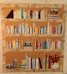 I've been saving nice selvages to do s'thing like this:) Carol's Selvage Bookshelf Quilt