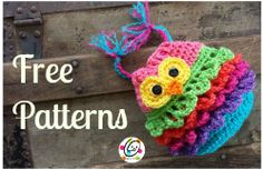 Free patterns from Snappy Tots Bonbon the owl container holder
