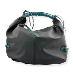 S/S 2013 NEW ARRIVAL Black and Dark Blue Colour Hobo Bag in Silvertone