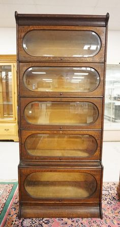 Oak Bakery Display Case With Curved Gl Top Br Lantern Antiques Pie Safe Shabby Cottage Chic Kitchen Decor Counter Ideas