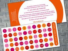Einladungen - Einladung 50. Geburtstag - Fünfzigster - ein Designerstück von zelka bei DaWanda