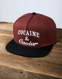 Crooks and Castles Cocaine and Caviar Snapback - Burgundy/Black