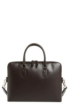 f2070613d BURBERRY 'New London' Calfskin Leather Briefcase. #burberry #bags #shoulder  bags…