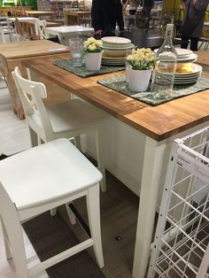 Building Ideas, Kitchen Island, Table, Furniture, Home Decor, I Want You, Island Kitchen, Decoration Home, Room Decor