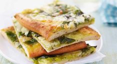 Pesto Pizza, Tomate Mozzarella, Calzone, Crepes, Parfait, Entrees, Sandwiches, Food And Drink, Veggies