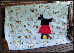 Baby boy or girl quilt Angus the Scottie Dog by marylandquilter, $75.00