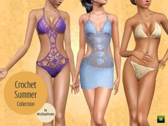 Crochet Summer Collection by MissDaydreams http://www.thesimsresource.com/downloads/1203088