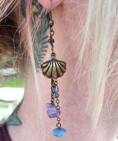 Mermaid shell earrings  Mermaid jewelry  Mermaid vibes Mermaid at heart