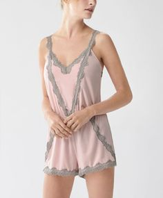 Blonde lace tank jumpsuit, null£ - Adjustable straps - Find more trends in women fashion at Oysho . Belle Lingerie, Lingerie Babydoll, Lolita Mode, Style Lolita, Pretty Outfits, Beautiful Outfits, Ropa Interior Babydoll, Wedding Night Lingerie, Classic Lingerie