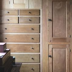 Built in dresser Built In Dresser, Shaker Style, Rustic Interiors, Pilgrimage, Wood Paneling, Built Ins, Natural Wood, Storage, Instagram