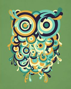 Hoot Art Print by Jay Fleck; owl, owls, graphic design, illustration