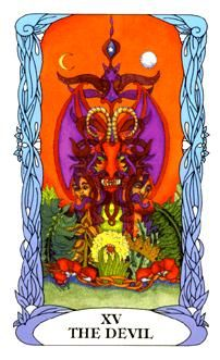 April 1 Tarot Card: The Devil (Moon Garden deck) You cannot keep doing the same thing and expect different results. To break free from your situation you have to break the habits and patterns that got you here.