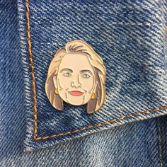 Go Hillary! Proudly support this smart, tenacious, fierce woman for her run for President.  Enamel pins are fun, quirky & retro. Wear them on your