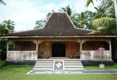 Good House, My House, Indonesian House, Bali House, Paradise Garden, Dutch East Indies, House Ornaments, Tropical Houses, Traditional House