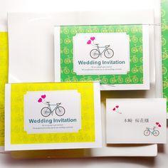 自転車(1名様分)「招待状手作りセット」/結婚式 http://www.farbeco.jp/shopdetail/036001000080/