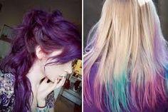 teñidos, cabellos de colores
