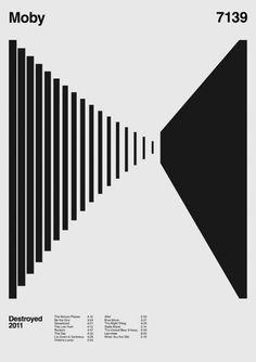 The top 20 graphic design trends of Graphic Design Trends: Moby Album Anatomy by Duane Dalton- Crea Design, Graphisches Design, Swiss Design, Deco Design, Layout Design, Line Design, Design Ideas, Graphic Design Trends, Graphic Design Posters