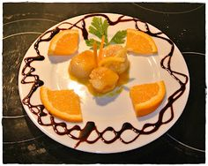Scalops in citrus dressing with our Satèn.
