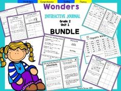 Coral's Corner has heard your feedback and is happy to present an Interactive Journal BUNDLE for 2nd grade McGraw Hill Wonders Unit 1!This 2nd grade, Unit 1  (Weeks 1-5) highly INTERACTIVE journal contains over 35 pages of student activities aligned to the McGraw Hill Wonders series.