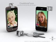 OneMoreFace Device Concept  -video call option for smartphones-