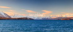 """""""Snow-capped Mountains of The Southern Alps"""" by Fakrul Jamil // Panoramic view of Snow-capped Mountains of The Southern Alps, Lake Tekapo, New Zealand // Imagekind.com -- Buy stunning, museum-quality fine art prints, framed prints, and canvas prints directly from independent working artists and photographers."""