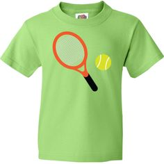 Cute Tennis Racket and Ball Youth T-Shirts sports gift idea.  17.99 www. f05ce773c0fd1