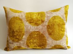 ON SALE Handmade Silk Velvet Ikat Lumbar Pillow Cover by sukan