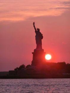 The Statue of Liberty New York Winter, Ellis Island, Statue Of Liberty, New York City, United States, Scene, America, Building, Places